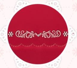 カブセの刺繍にはスワロフスキー®・クリスタル