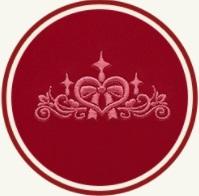 モデルロイヤル・レジオベーシックの大マチのティアラの刺繍