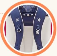 コンバースデコキッズの肩ベルトの星型反射材