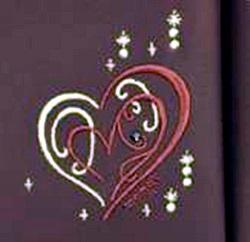 シェリーハート パール系タフガードの大マチの刺繍