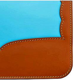 耐性牛革ウイングチップフリルランドセルのカブセのデザイン